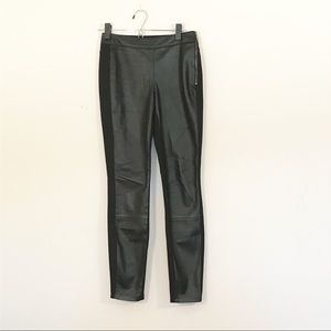 WHBM skinny faux leather front pant